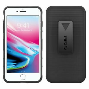 Apple iPhone 8 Plus Swivel Belt Clip Shell Holster Case Cover & Media Kickstand