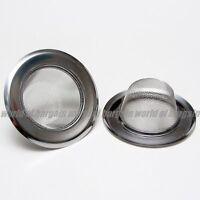 2 Pcs Kitchen Sink Drain Strainer Stainless Steel Mesh Food Filter Catcher H054
