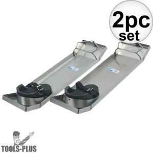 Kraft-Tool-CC162-28-034-x-8-034-Concrete-Knee-Boards-Stainless-Steel-Lightweight-New