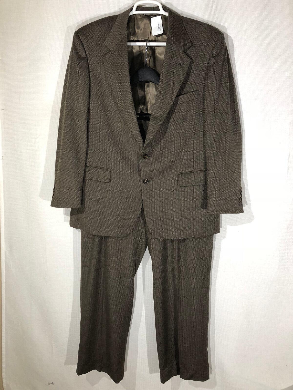 Herren Stafford 44R Braun 2 Button Two Piece Suit Pants 38 x 30