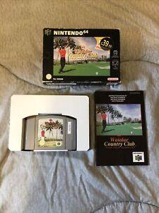 Waialae Country Club verdadero leyendas Golf Nintendo N64 en caja con instrucciones PAL