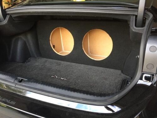 """Lexus 2015-17 Rc RC350 RC300 RCTurbo 2-12/"""" Subwoofer Sub Speaker Box ZEnclosures"""