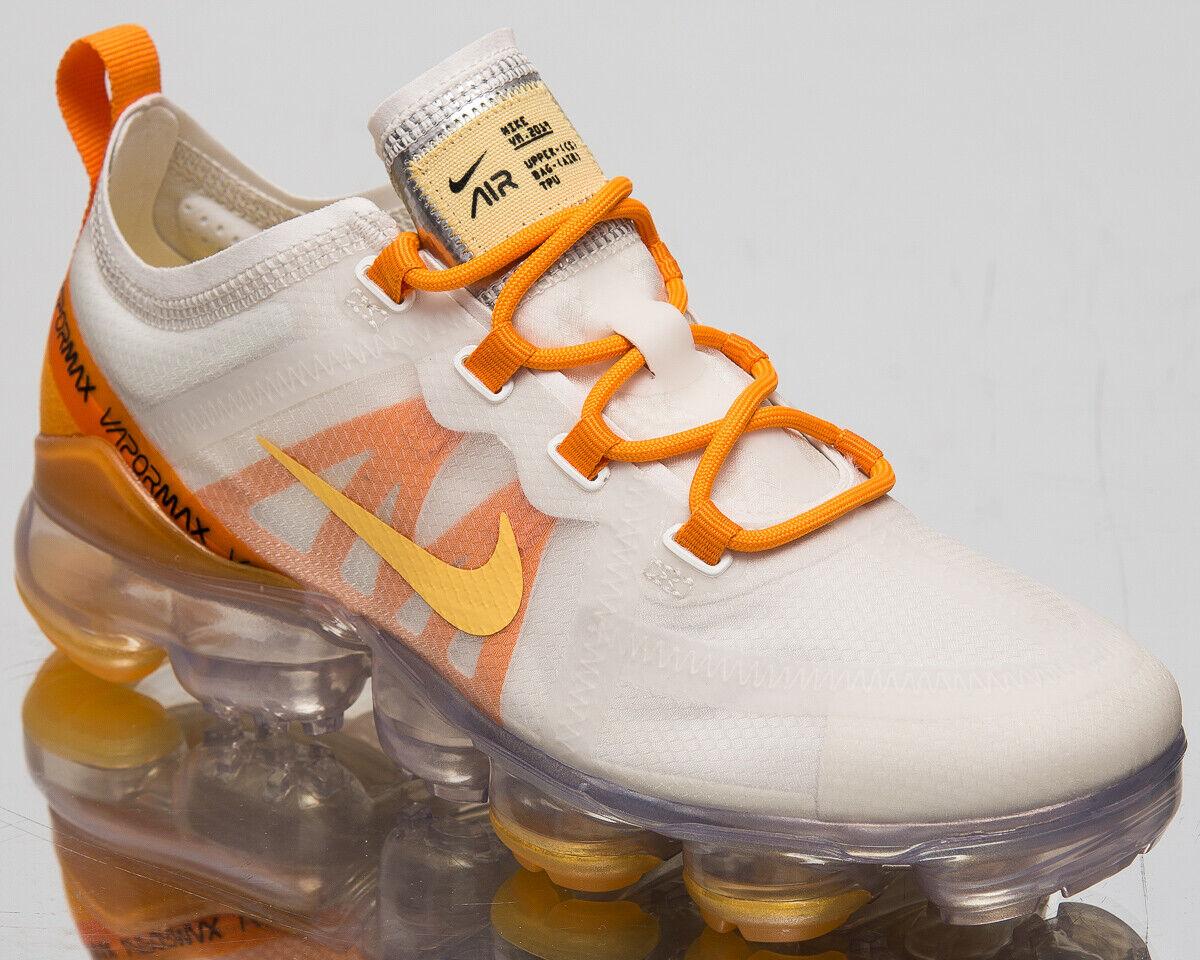 Nike Luft Vapormax 2019 Damen Weiß Gold Freizeit Lifestyle Turnschuhe AR6632-102
