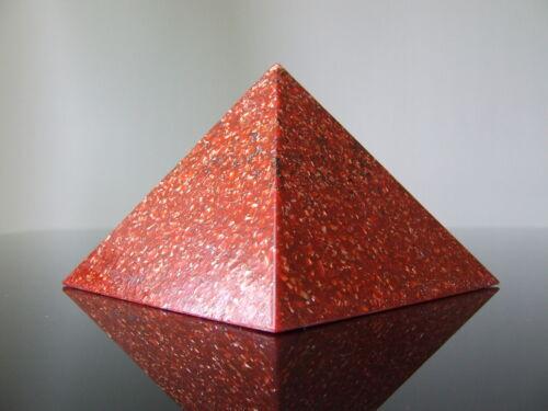 Groß 12x9cm Orgon Spirituell Love Akzeptanz Heilung Herz Pyramide Rosenquarz