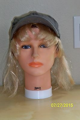 BASEBALL CAP HAT WITH BLONDE HAIR WITH BANGS COSTUME DRESS ELA2273