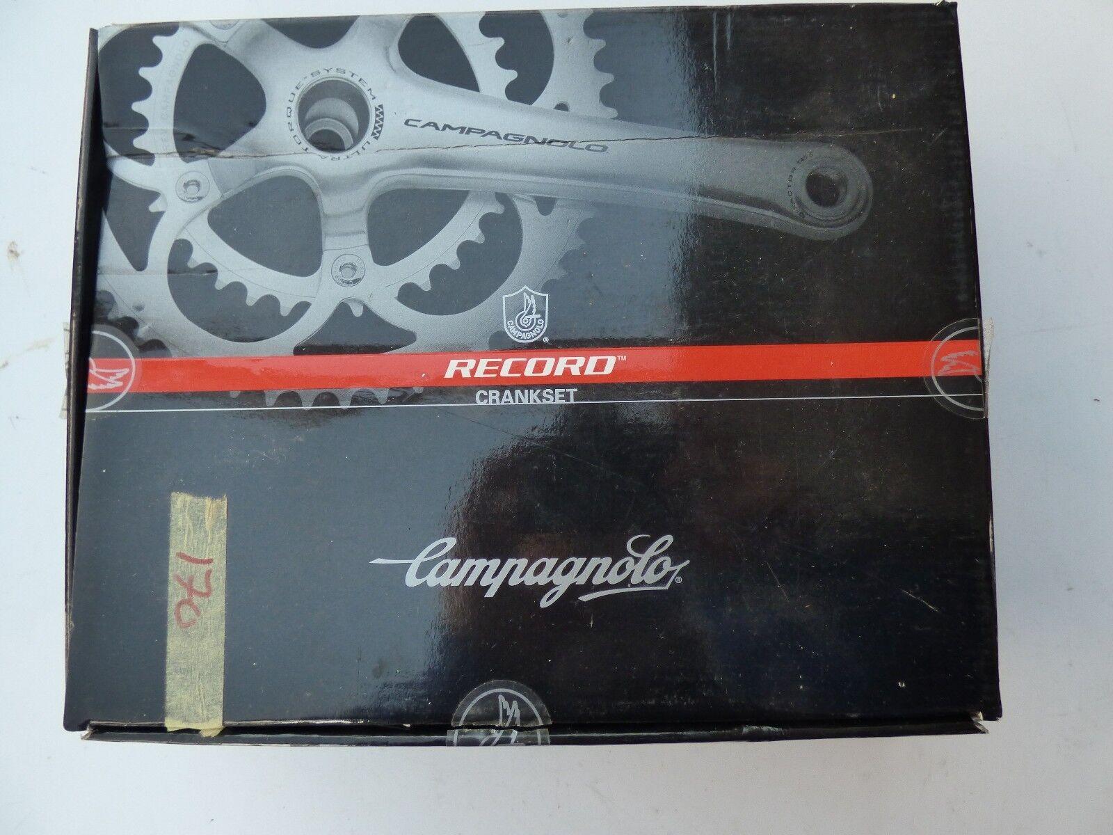 CAMPAGNOLO RECORD CARBON CRANKSET 11-SP ULTRA TORQUE 53 39T - 170 mm -NOS  NIB