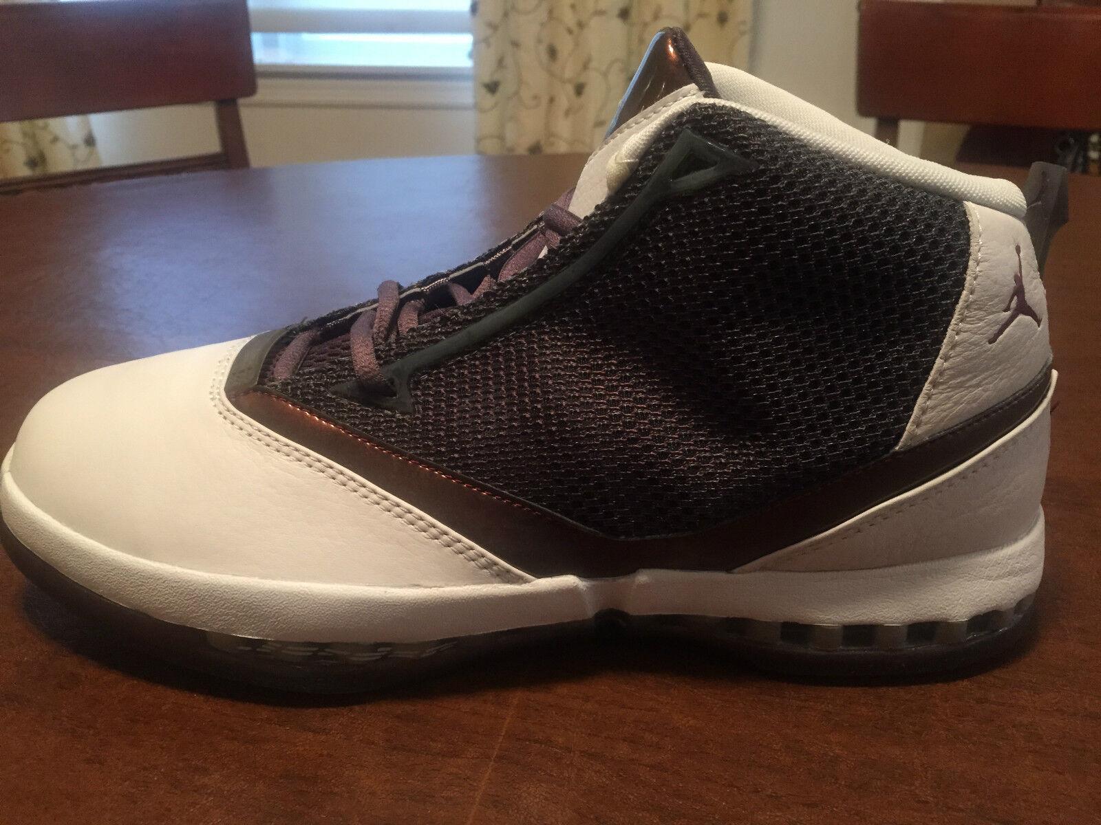 2001  Nike Air Jordan XVI 16+ Q Cherrywood Size 10.5 - 136080-020 Deadstock