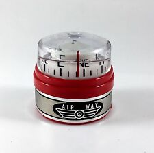 Vintage Red AIR WAY Car Truck Boat Compass Auto Dash Gauge Compass