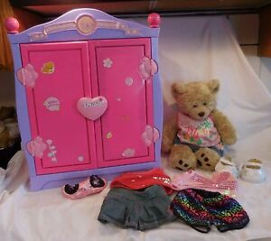 Image Is Loading Build A Bear Beararmoire Fashion Case Closet Wardrobe