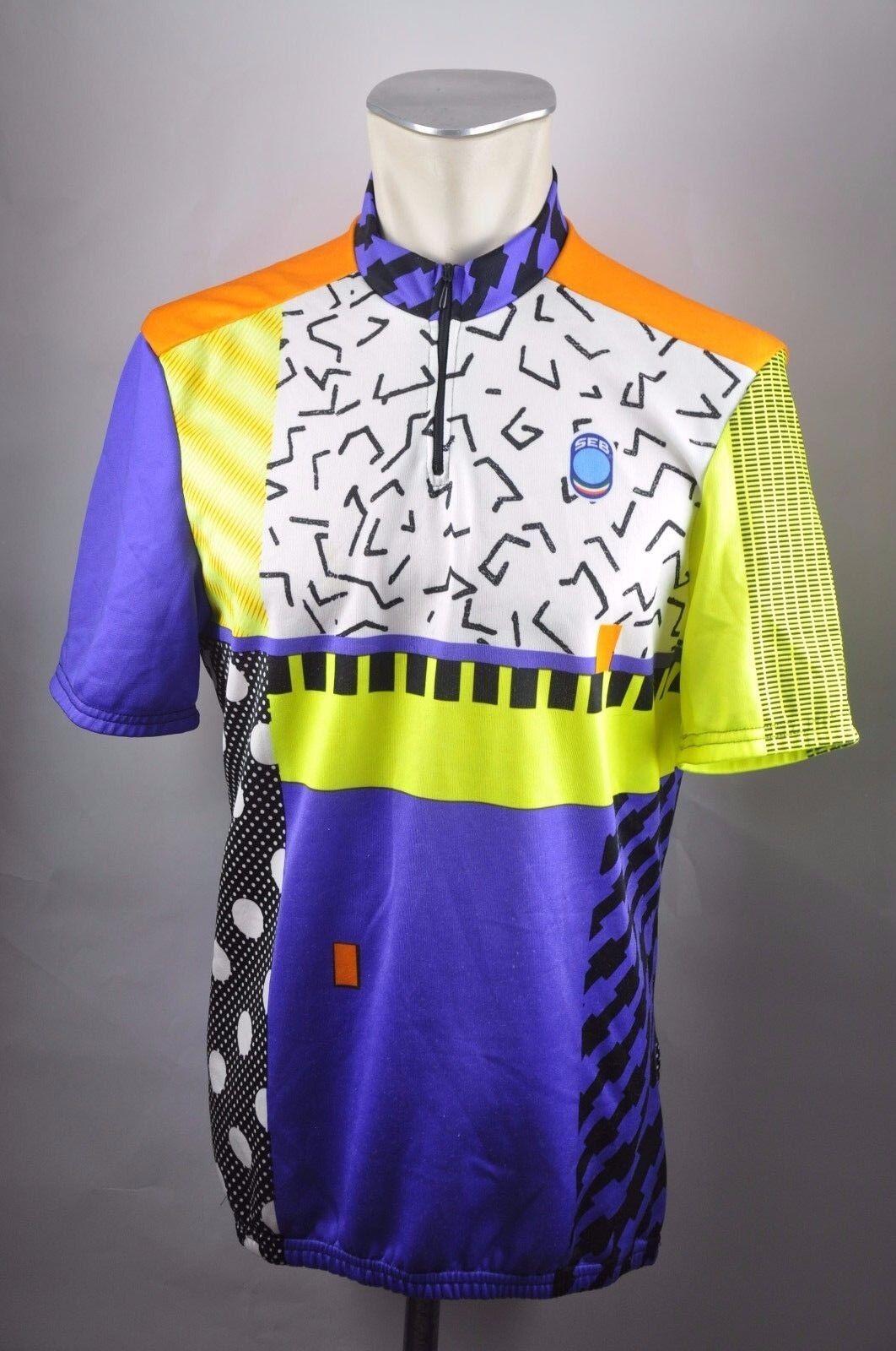 SEB Vintage 80s cycling jersey jersey jersey Bike Rad Trikot Gr XXL  - 55cm W2 759e44