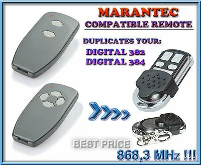 ex 304 MARANTEC 384 fm 868.3 MHz MINI DIGITAL HANDSENDER TRANSMITTER ORIGINALE