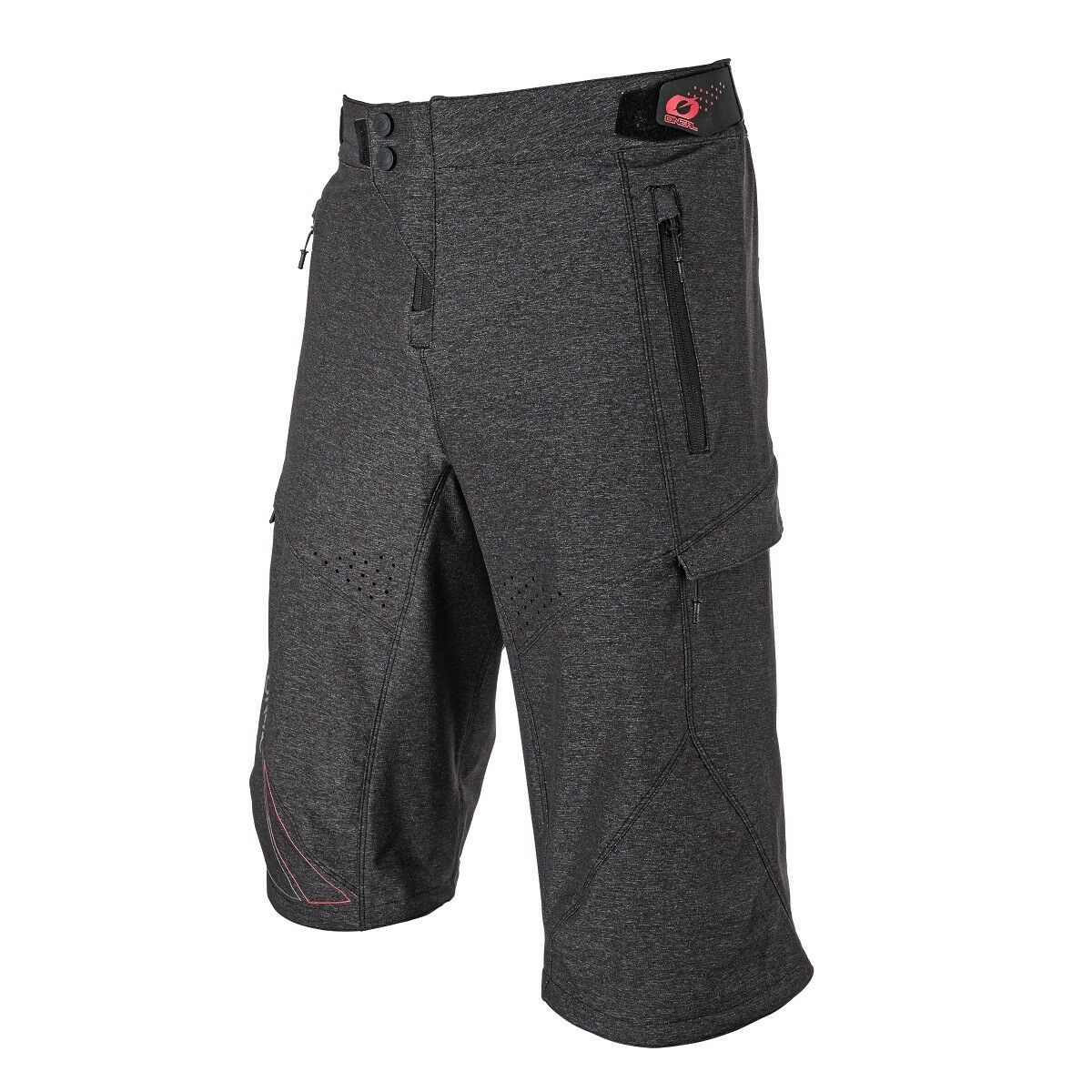 O'Neal Stormrider Shorts Shorts Shorts Fahrrad Hose kurz, Grau-Rot MTB Mountainbike Downhill c45335