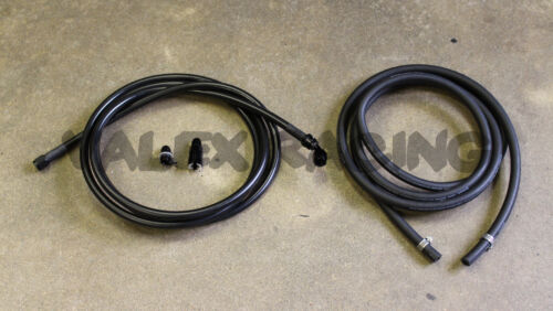 96-00 Civic HB Black Replacement Stainless Steel Fuel Feed Line /& Rubber Return