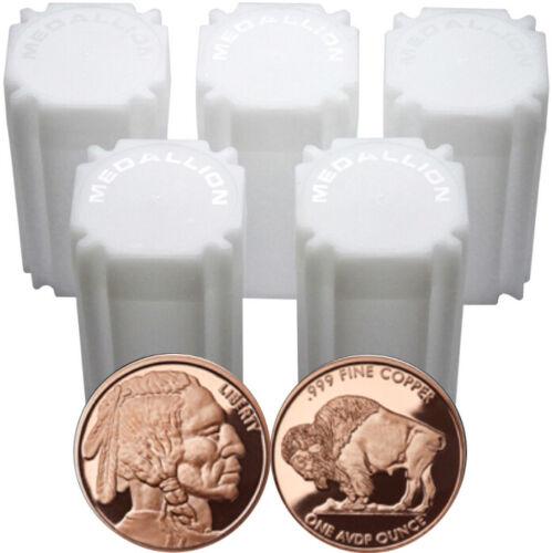 Buffalo Nickel DESIGN 1 OZ Ounce Copper Bullion ROUNDS New 100 INDIAN HEAD
