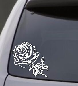 Rose Vinyl Decal Laptop Car Truck Bumper Window Sticker