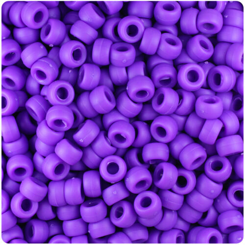 BeadTin Matte 6.5mm Mini Barrel Pony Beads Color choice 1000pcs