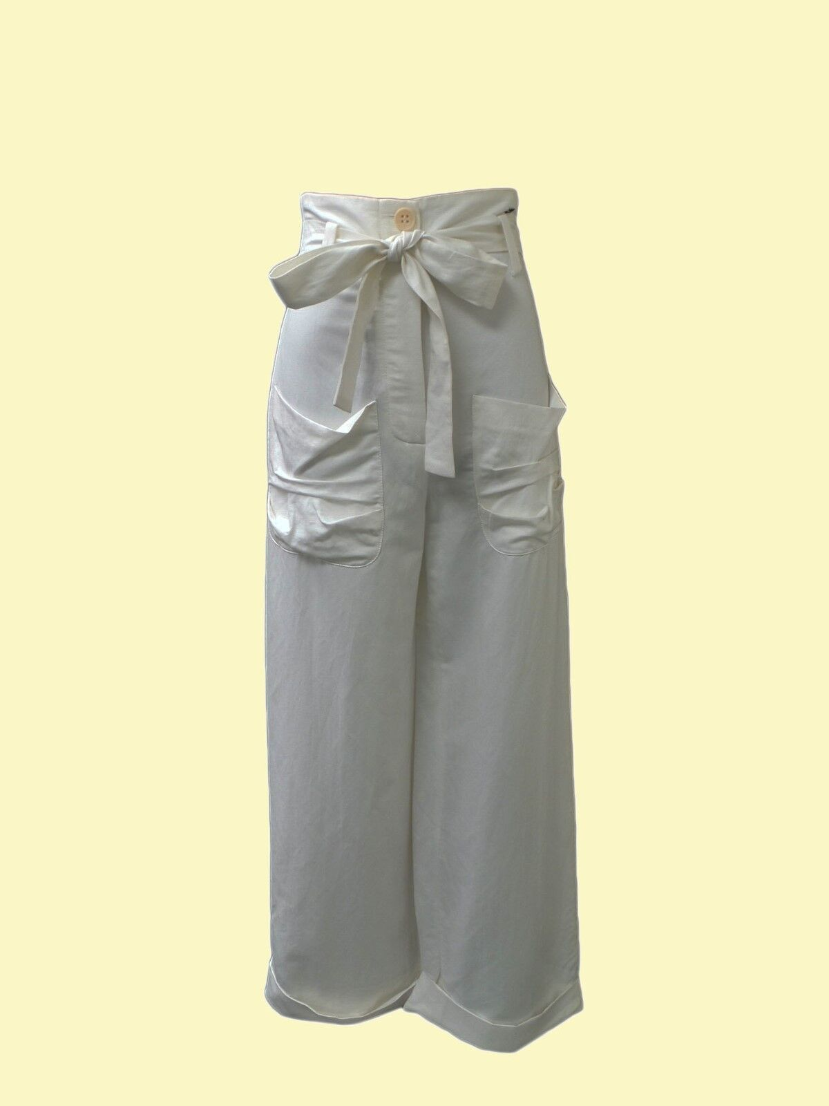 SONIA RYKIEL White Wide Legs Pants