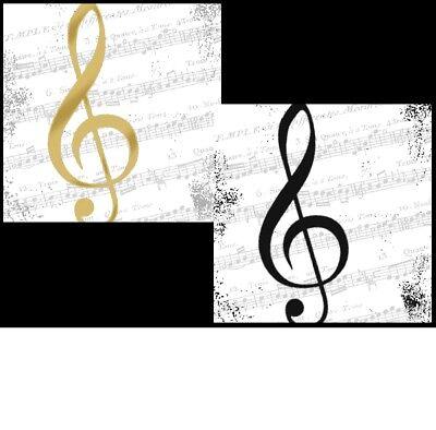 20 Servietten Musik Instrumente NOTEN Klavier Geigen 1 Packung kleine Motive AMB