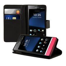 SLL WALLET guscio protettivo per Sony Xperia P Nero Astuccio Case ecopelle EC