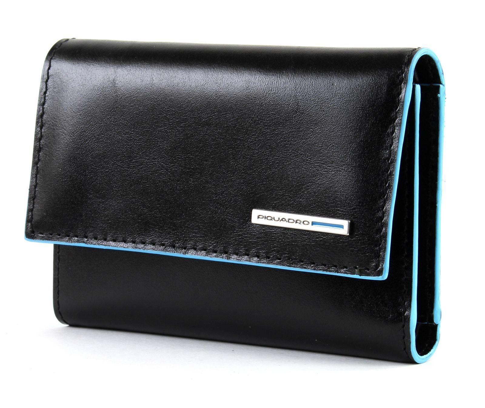 PIQUADRO Blau Square Wallet With With With Flap Geldbörse schwarz Schwarz Neu | Zu einem erschwinglichen Preis  84de8b
