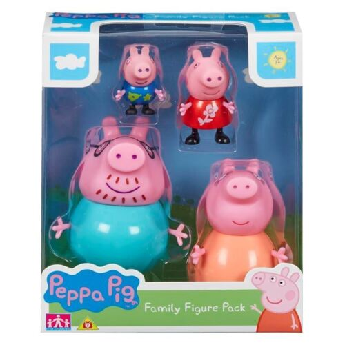 Daddy Peppa George Peppa Pig ~ Family Figures 4 Pack ~ Inc Mummy