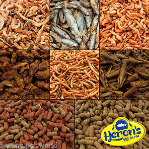 HERONS-DRIED-FOOD-Whole-Fish-Shrimp-Silkworm-Grasshoppers-Mealworm-Gammarus