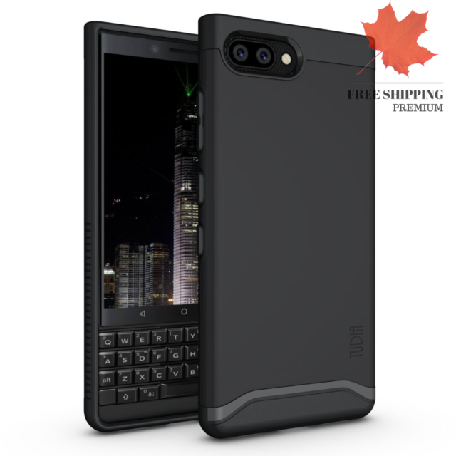 TUDIA Merge Dual Layer Case Designed for BlackBerry Key2 Matte Black