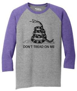 Mens-Don-039-t-Tread-On-Me-Gadsden-Flag-Gun-Rights-Shirt-3-4-Triblend-Hunting