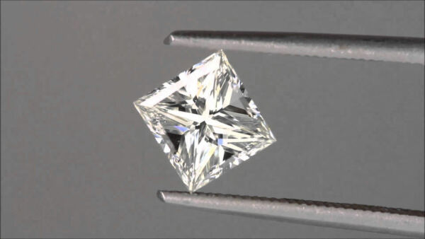 0,72 Carats F Color Vs Princess Cut Natural Gia Certified Loose Diamond