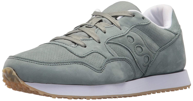 Saucony Originals Uomo Green Nubuck  Pelle DXN Trainer CL Running  Shoe