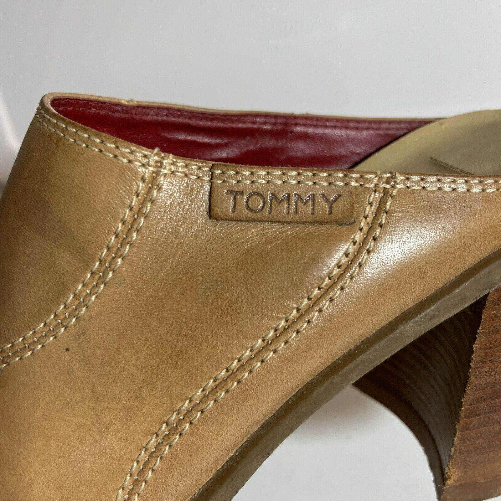 Tommy Hilfiger Leather Clogs Mules Womens 7-7.5 T… - image 4