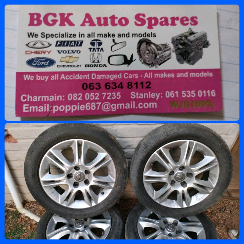 Opel corsa D 16 inch mags and tyres R4000