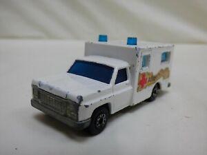 Vintage-1977-Lesney-Matchbox-Superfast-N-41-Ambulancia-Juguete-Diecast-Blanco-Coche-Furgoneta