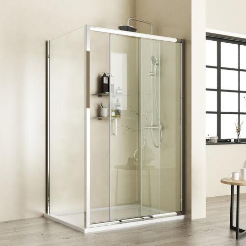 Duschkabine Duschwand Schiebetür 100x70 100x80 120x90 Duschabtrennung Dusche ESG