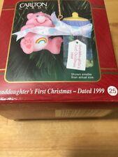 Carlton Cards Heirloom Ornament Cheer Care Bear 1999 Granddaughter 1st Christmas
