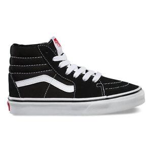 VANS KIDS SK8-Hi Black True White VN0D5F6BT All Sizes 11- 4 Fast ... 0155ae04de