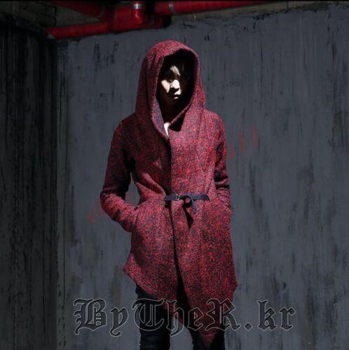 Cool Mens Hooded Long Coat Cape Cloak Wool Overcoat Chic  Jacket New Lit1117