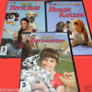 3-Spiele-Meine-Tierschule-Meine-Tierpension-2-Hunde-und-Katzen-fuer-PC-CD-ROM