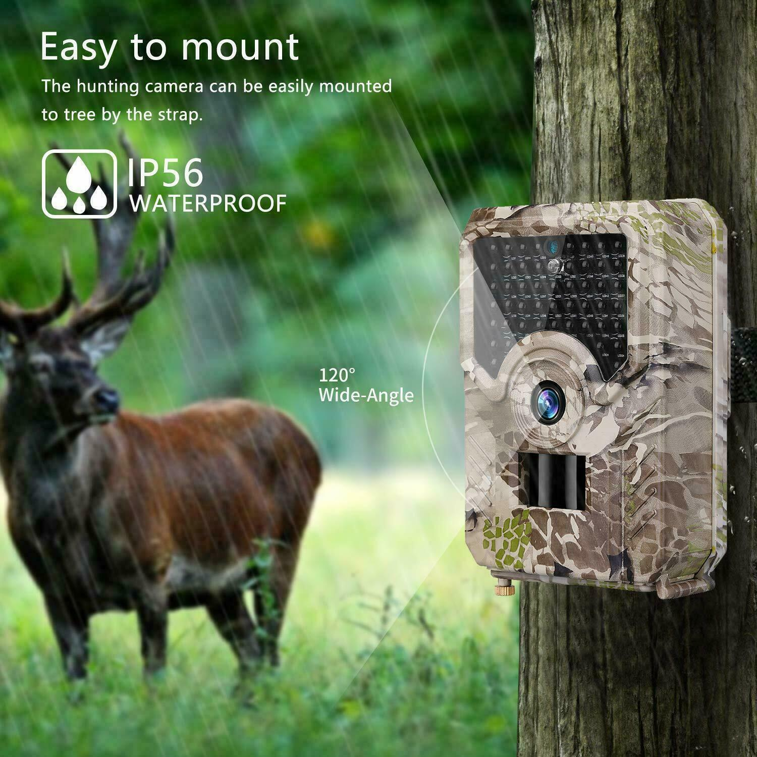 12MP 1080P Hunting Trail Camera PIR  IR LED Motion Activated Security Wildlife  more affordable