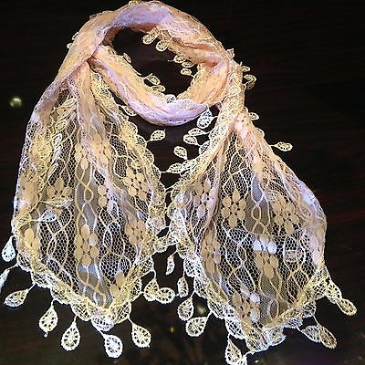 beautiful delicate antique victorian style shawl scarf wrap pale gold fringed