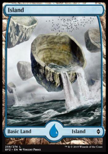 Magic BFZ Battle For Zendikar FULL-ART #258 ISOLA ISLAND