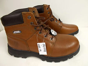 3d3805235b3c1 Men's Skechers Work Relaxed Fit Workshire Steel Toe Boots Brown Size ...