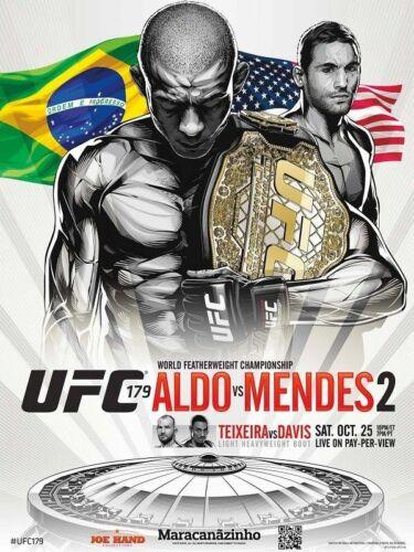 30x20 36x24 Silk Poster UFC 179 Aldo vs Mendes 2 Hot MMA Fight Event T-743