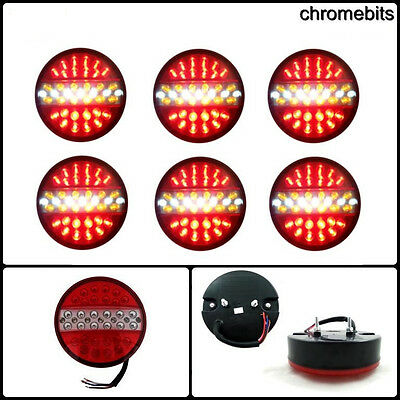 6 PCS LED RECOVERY REAR TAIL LAMP LIGHTS TRAILER TRUCK LORRY CHASSIS TIPPER 12V