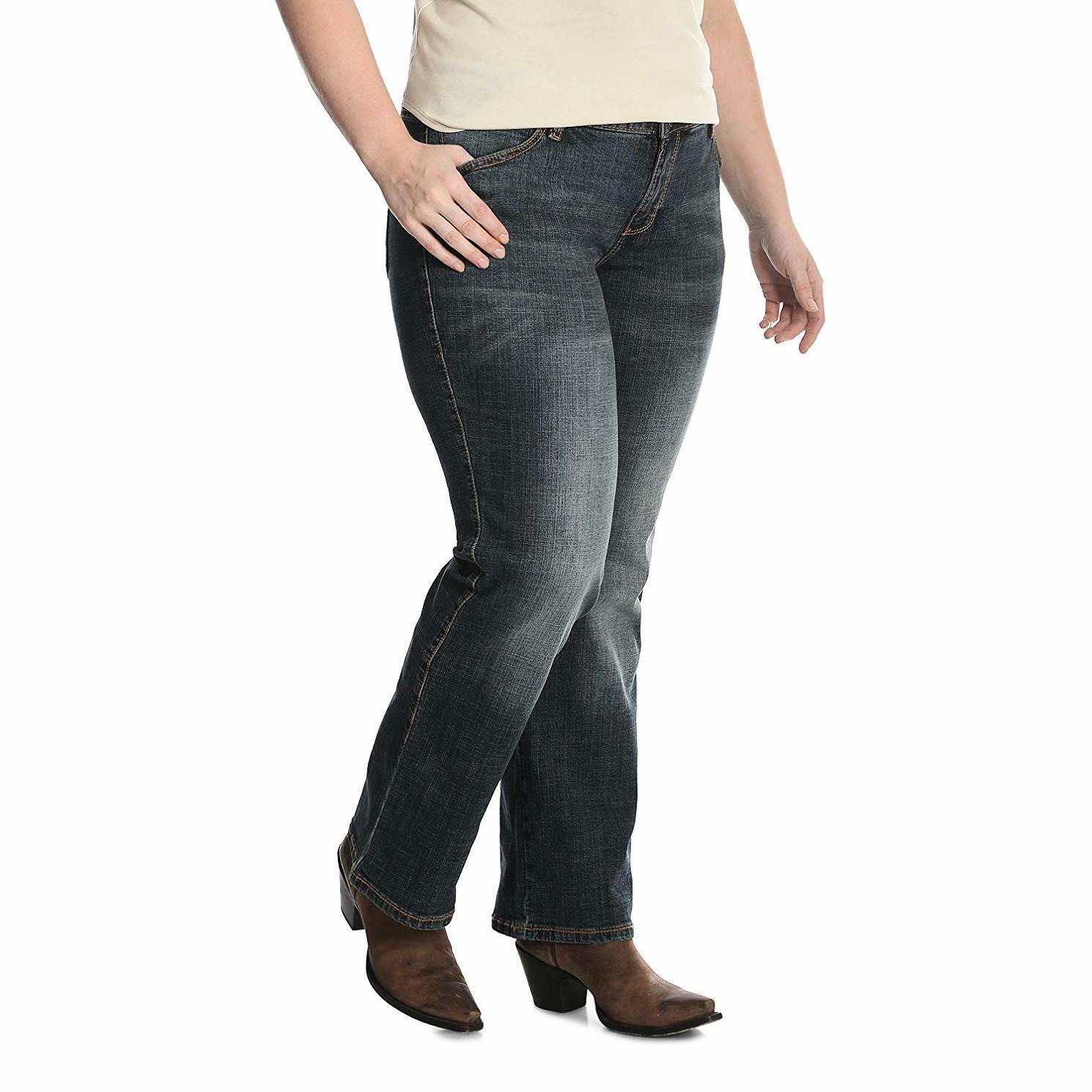 Wrangler Women's SZ Aura Plus Instantly Slimming Mid-Rise Jean