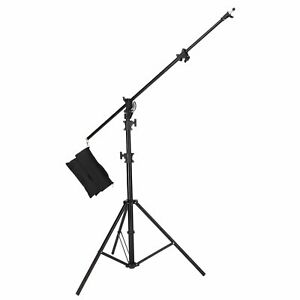 500cm-M-3-Heavy-Duty-2in1-Combine-Rotatable-Boom-Arm-Light-Stand-Kit-W-Sand-Bag