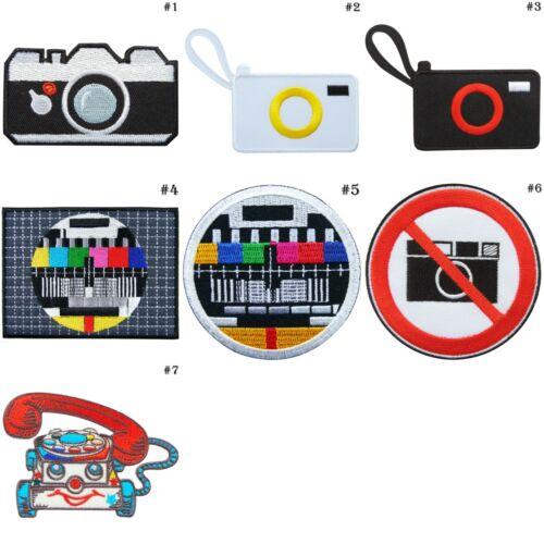 Appareil photo argentique classique Photo TV télévision couleur téléphone de iron on patches #4