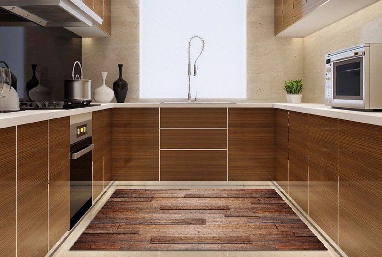 3D Wood Stripes 5 Kitchen Mat Floor Murals Wall Print Wall AJ WALLPAPER UK Kyra