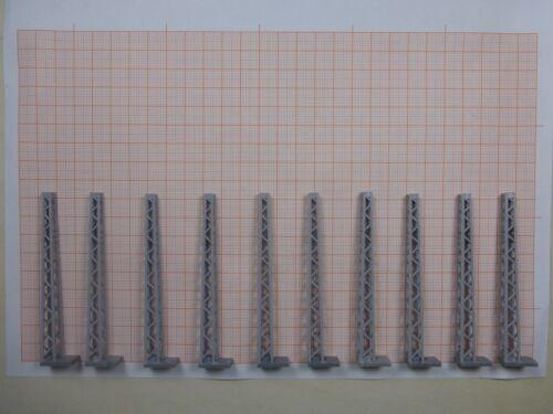 10 x mástil de rejilla para transversales jácenas TT RDA Plasticart adecuado para hobbex