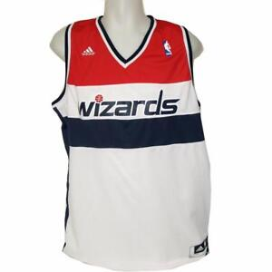new arrival ba716 348e1 Details about New Adidas NBA Washington Wizards Classic Basketball Jersey  White Small Stained